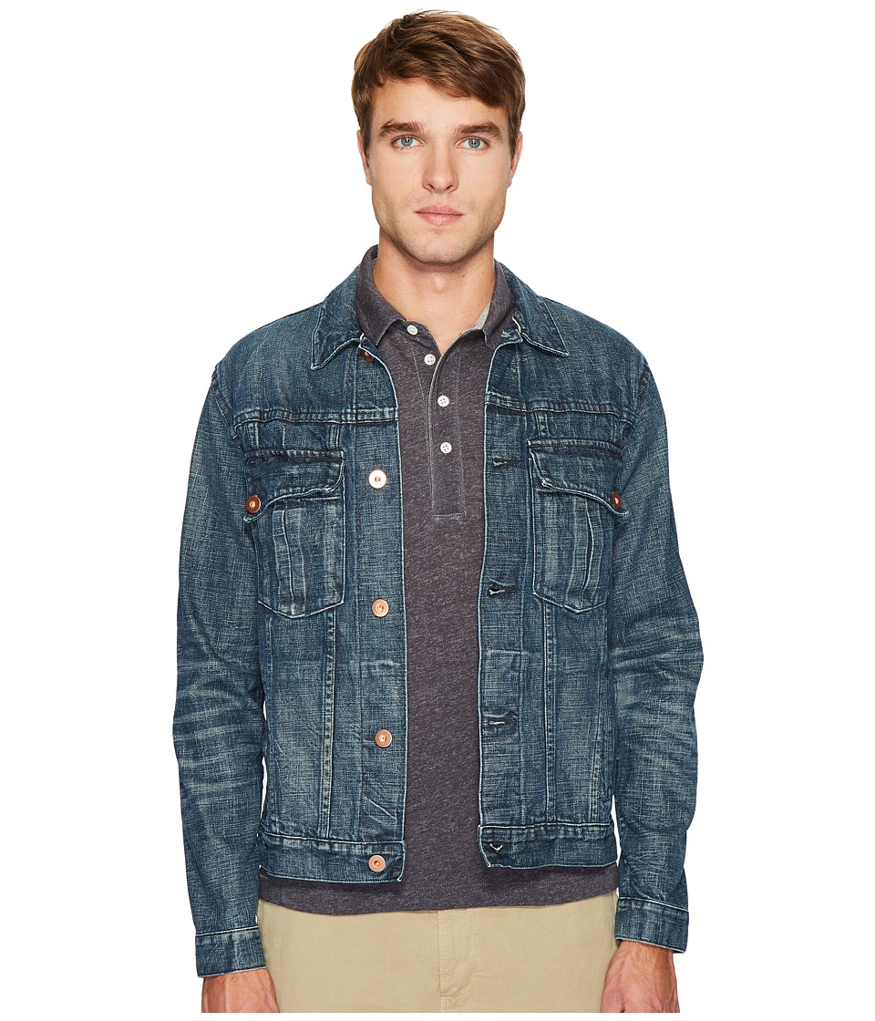 Billy Reid - Distressed Clayton Jacket (Denim Wash) Men's Clothing