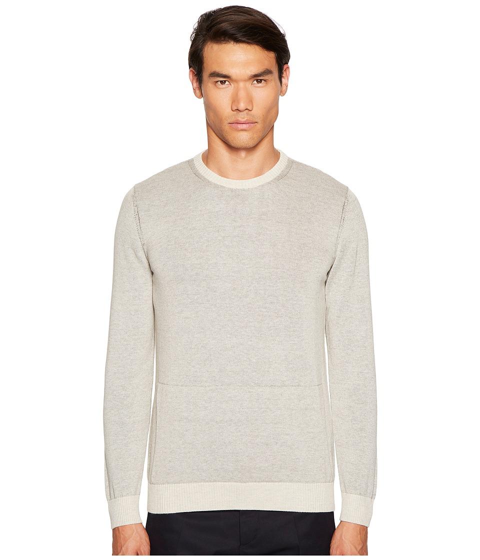 Billy Reid - Ryan Plaited Crew (Oatmeal) Men's Clothing