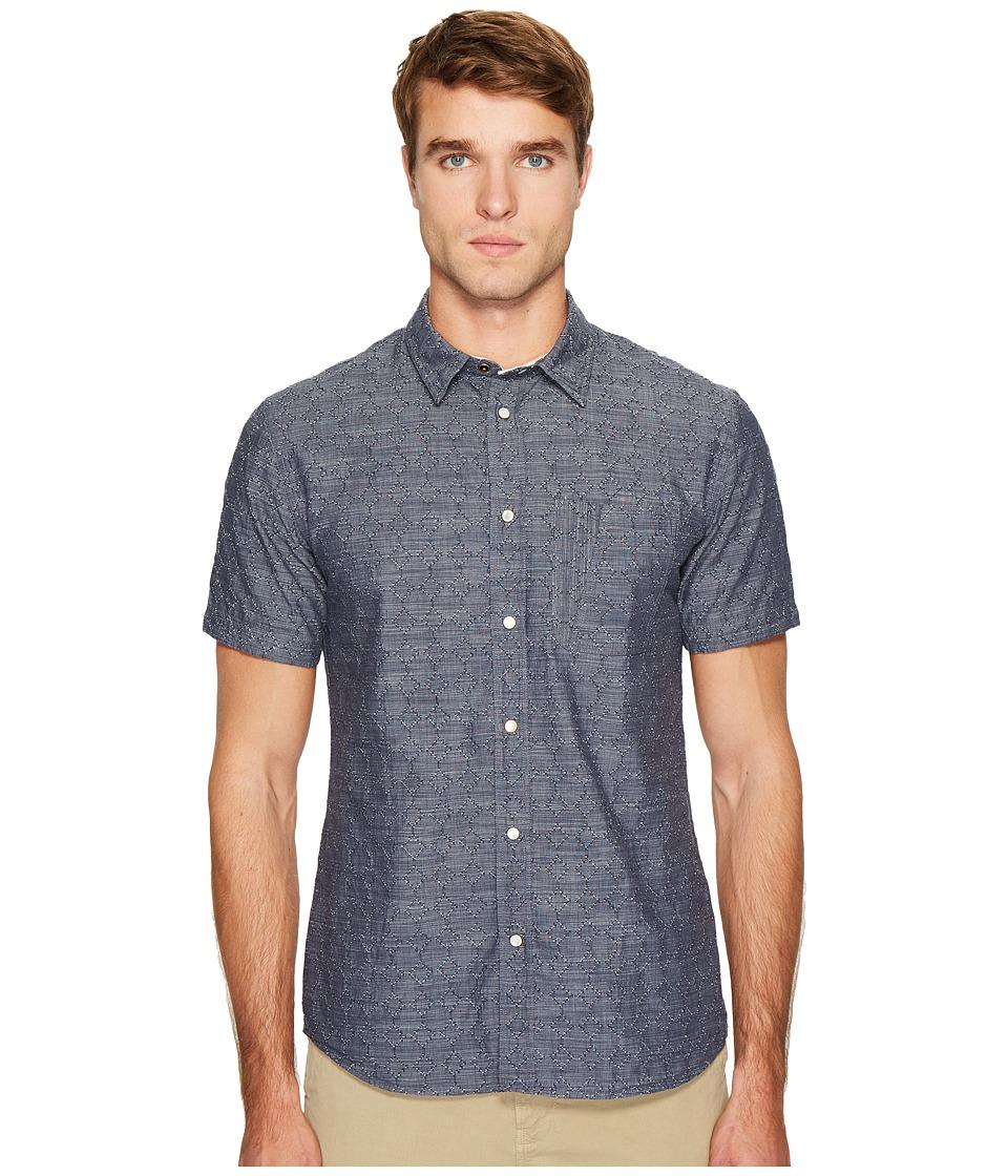 Billy Reid - Martin Short Sleeve Shirt (Navy) Men's Clothing