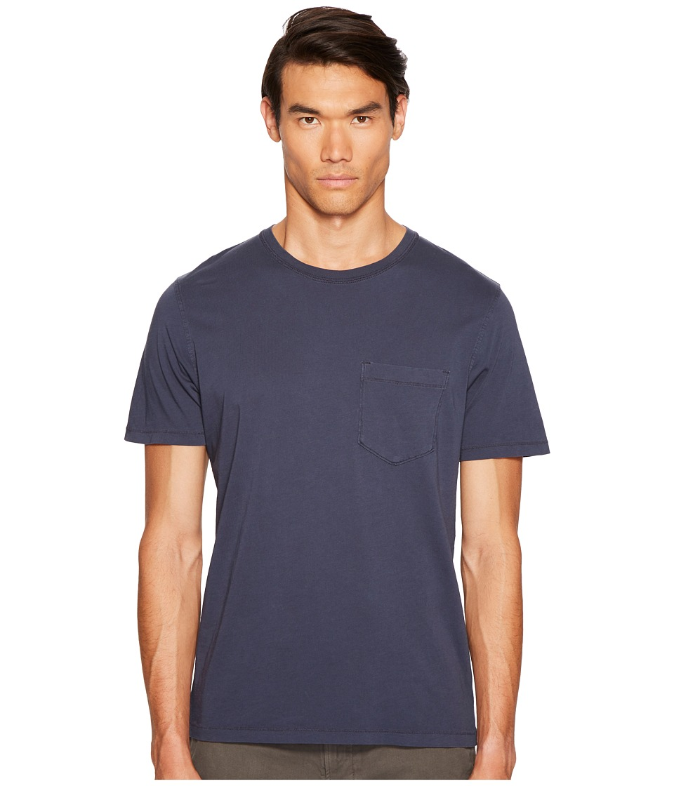 Billy Reid - Washed Tee (Navy) Men's T Shirt