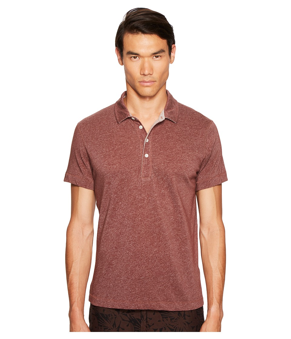 Billy Reid - Grant Polo (Burgundy) Men's Clothing