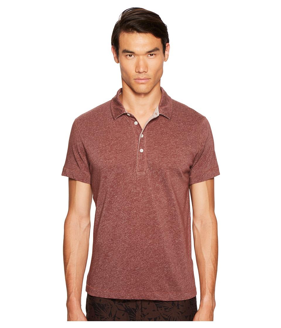Billy Reid - Grant Polo (Burgundy) Men's Clothing