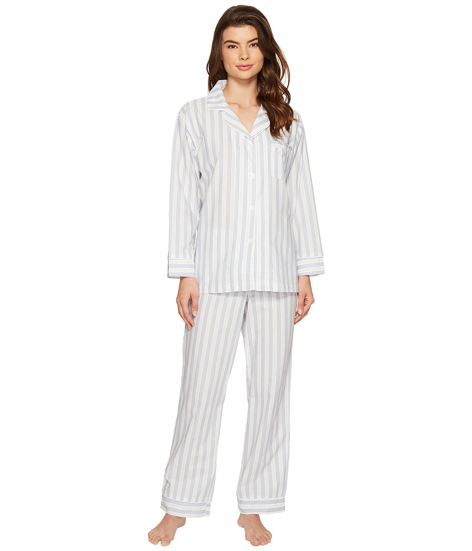 BedHead - Long Sleeve Classic Pajama Set (Periwinkle Maypole) Women's Pajama Sets