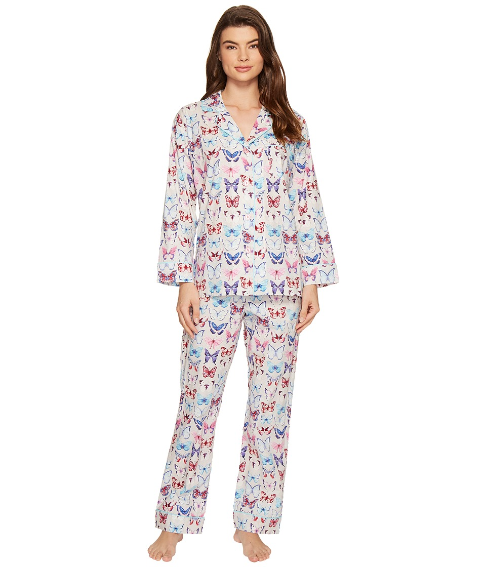 BedHead - Long Sleeve Classic Pajama Set (A Flutter) Women's Pajama Sets