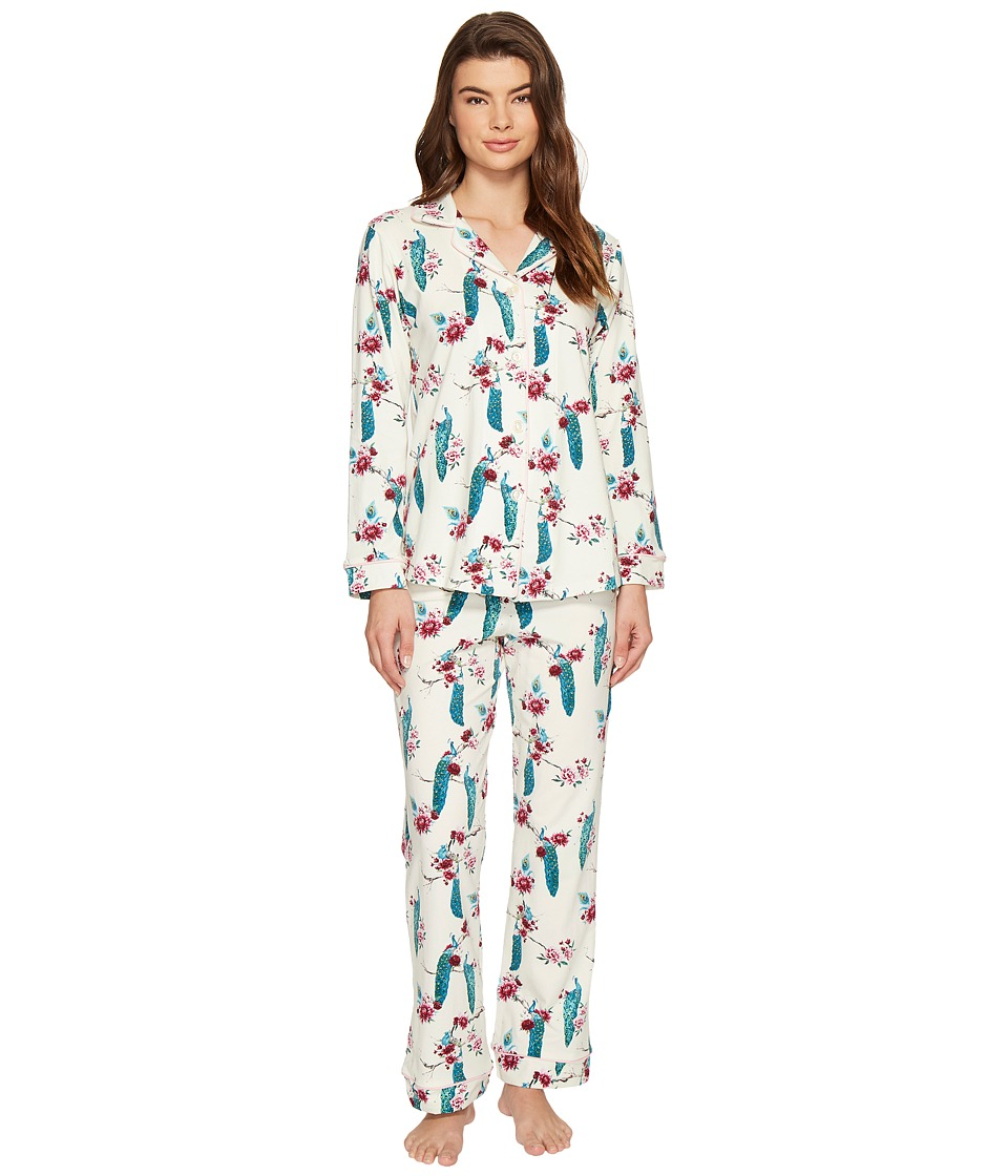 BedHead - Long Sleeve Classic Pajama Set (Feathered Splendor) Women's Pajama Sets