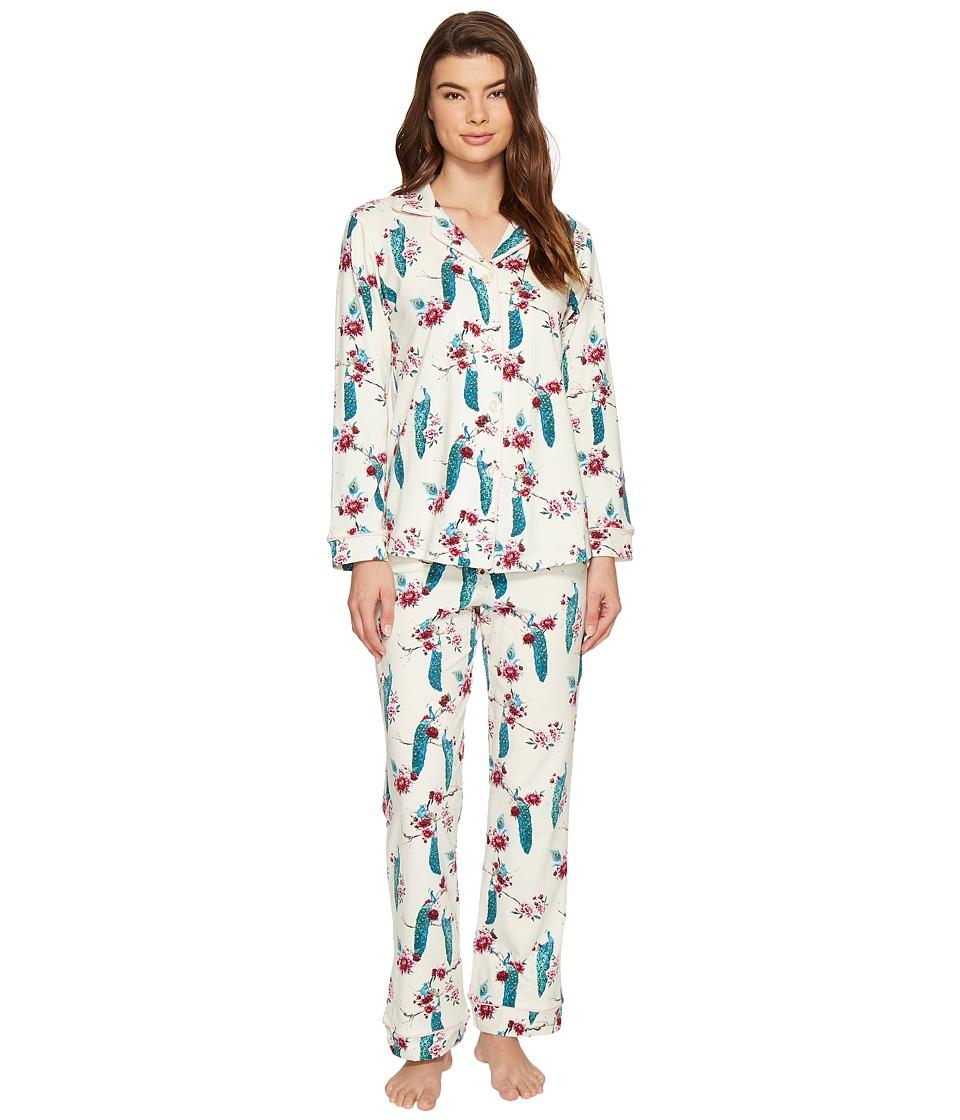 BedHead - Long Sleeve Classic Pajama Set (Feathered Splendor) Women's Pajama Sets