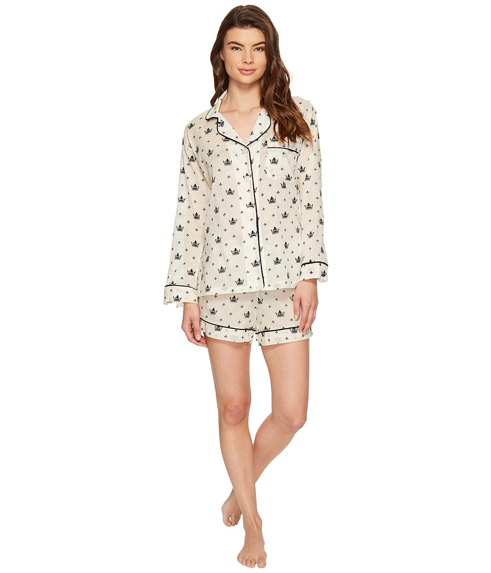 BedHead - Long Sleeve Classic Shorty Set (Queen For A Day) Women's Pajama Sets
