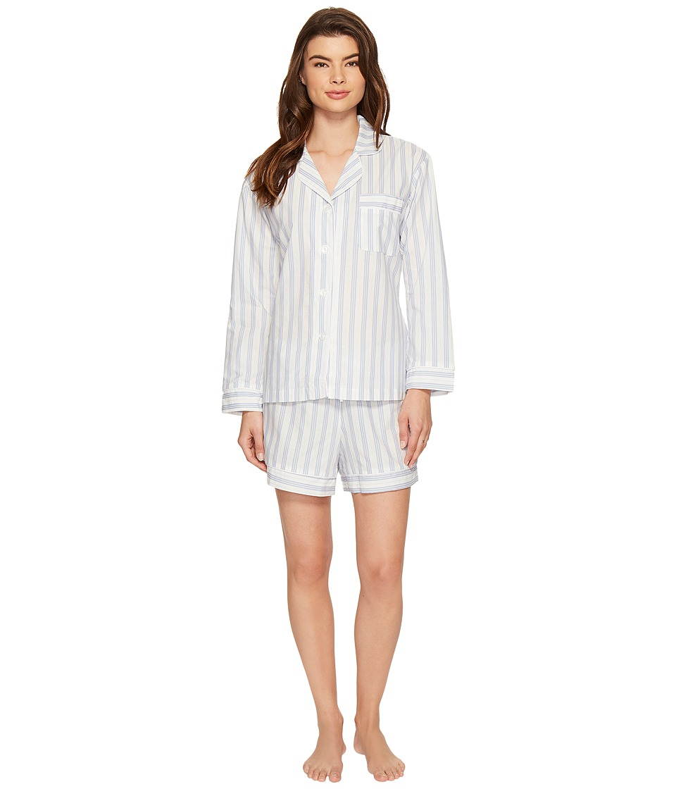 BedHead - Long Sleeve Classic Shorty Set (Periwinkle Maypole) Women's Pajama Sets