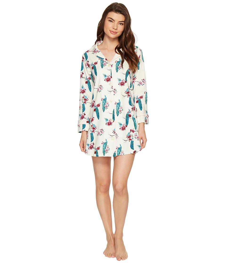 BedHead - Long Sleeve Night Shirt (Feathered Splendor) Women's Pajama