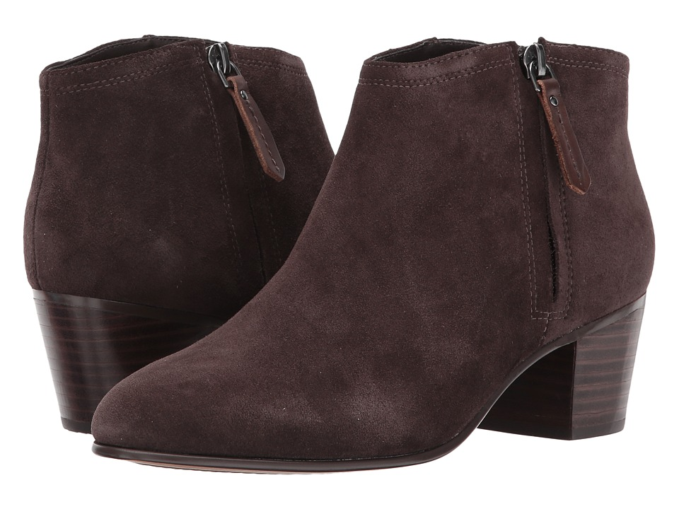 Clarks Maypearl Alice (Dark Brown Suede) Women