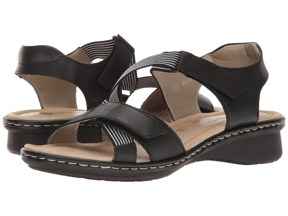 Rieker - D2757 Reanne 57 (Schwarz/Schwarz Weiss) Women's Shoes