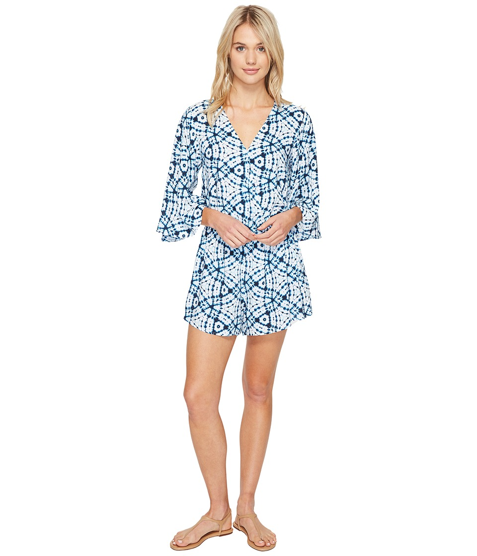 Seafolly Shibori Playsuit Cover-Up (White) Women