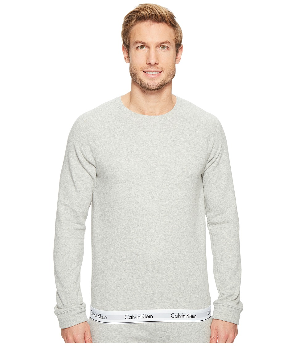 Calvin Klein Underwear - Modern Cotton Stretch Lounge Sweatshirt (Heather Grey) Men's Clothing