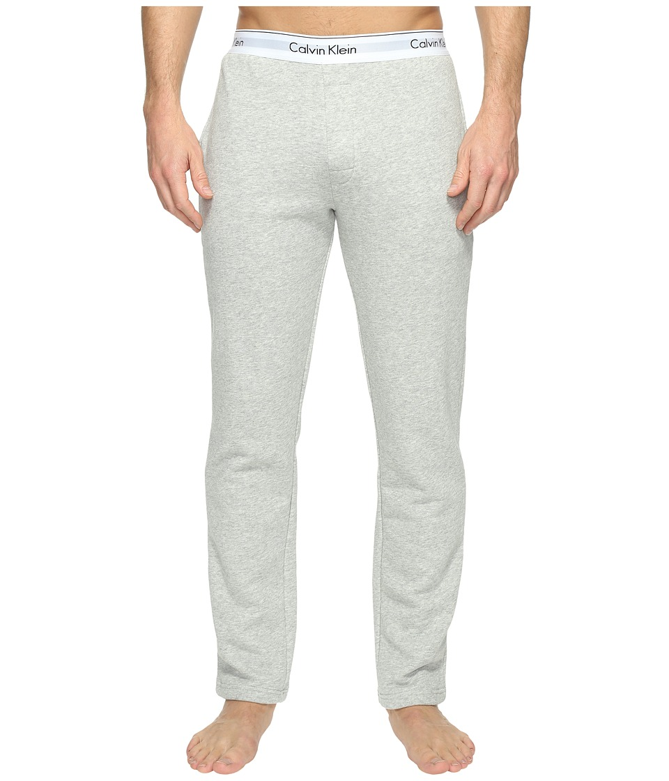 Calvin Klein Underwear - Modern Cotton Stretch Lounge Pants (Heather Grey) Men's Casual Pants