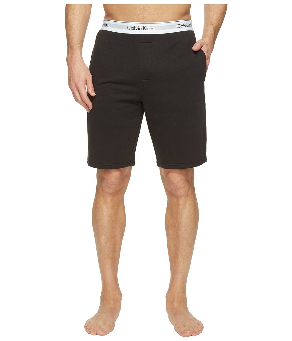 Calvin Klein Underwear - Modern Cotton Stretch Lounge Shorts (Black) Men's Shorts