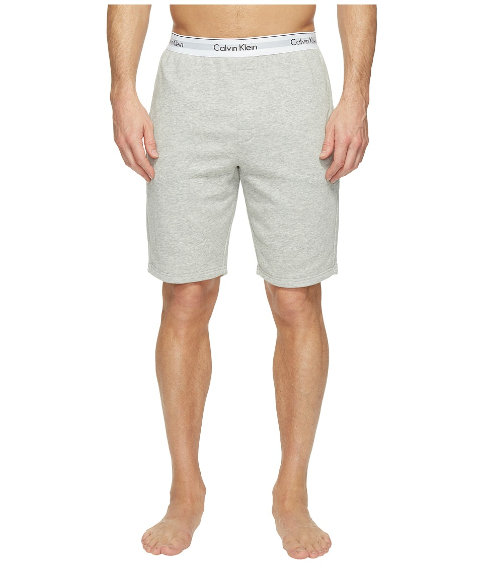 Calvin Klein Underwear - Modern Cotton Stretch Lounge Shorts (Heather Grey) Men's Shorts