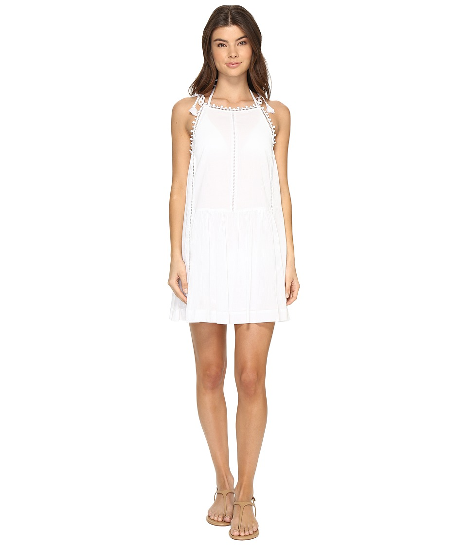 Seafolly - New Romantic Lace Trim Dress Cover-Up (White) Women's Swimwear