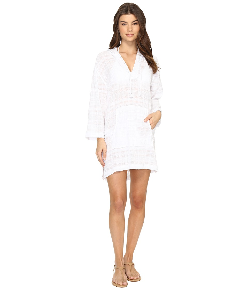 Seafolly - Tribetan Travels Hooded Cover-Up (White) Women's Swimwear