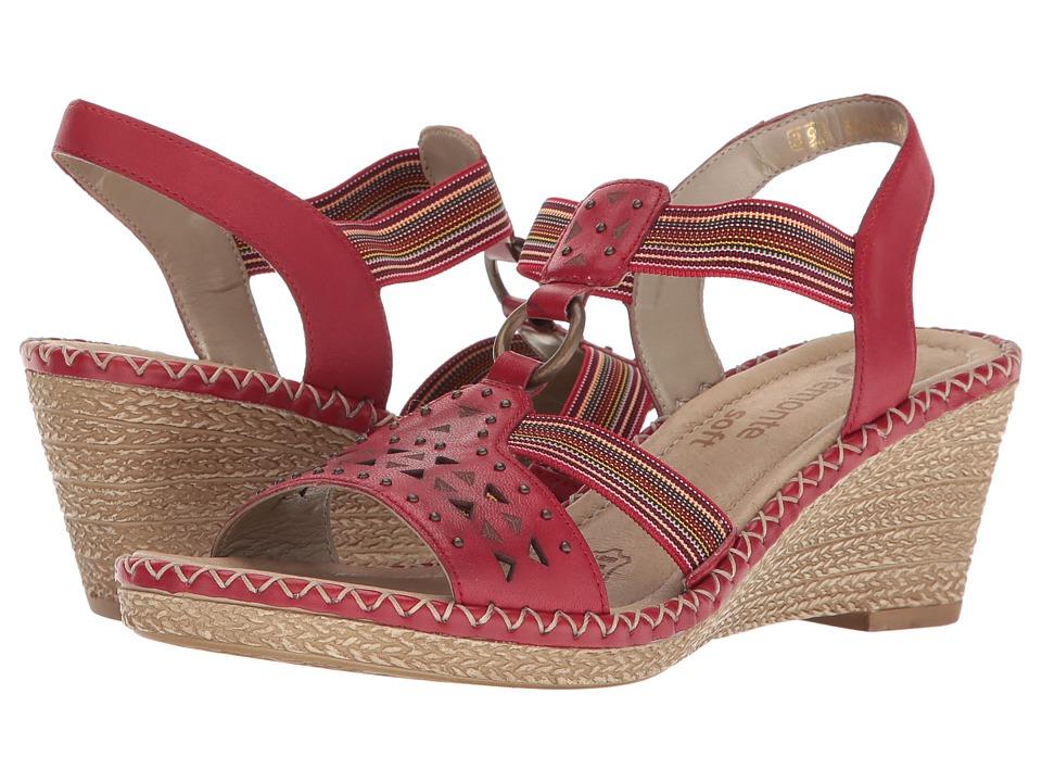 Rieker - D6751 Ursula 51 (Rosso/Rosso/Fire) Women's Wedge Shoes