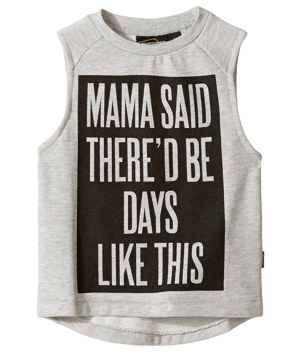 Rock Your Baby - Mama Said Muscle T-Shirt (Toddler/Little Kids/Big Kids) (Grey) Boy's T Shirt