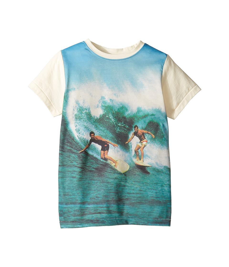 Rock Your Baby - Surfin Safari T-Shirt (Toddler/Little Kids/Big Kids) (Oatmeal/Blue) Boy's T Shirt