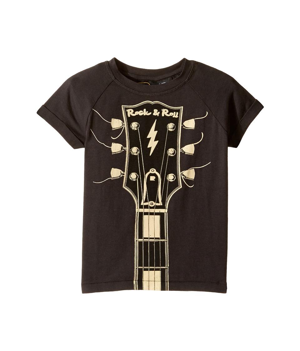 Rock Your Baby - Headstock T-Shirt (Toddler/Little Kids/Big Kids) (Charcoal) Boy's T Shirt