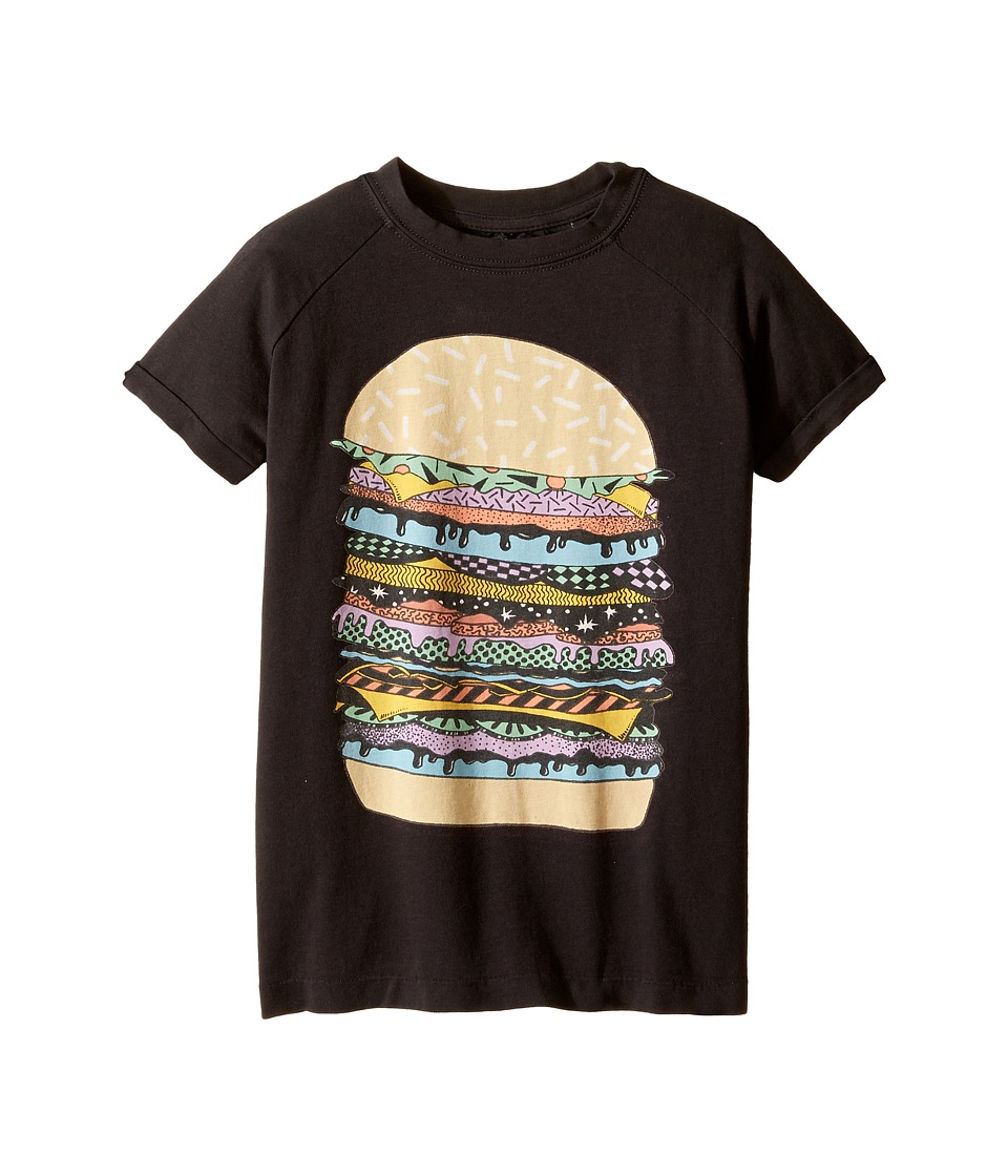 Rock Your Baby - Cosmic Burger T-Shirt (Toddler/Little Kids/Big Kids) (Charcoal) Boy's T Shirt