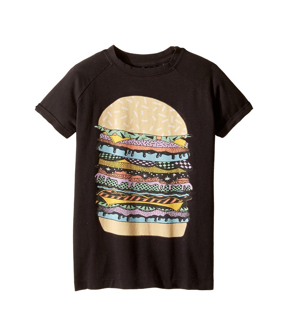 Rock Your Baby - Cosmic Burger T-Shirt (Toddler/Little Kids/Big Kids) (Charcoal) Boy's T Shirt