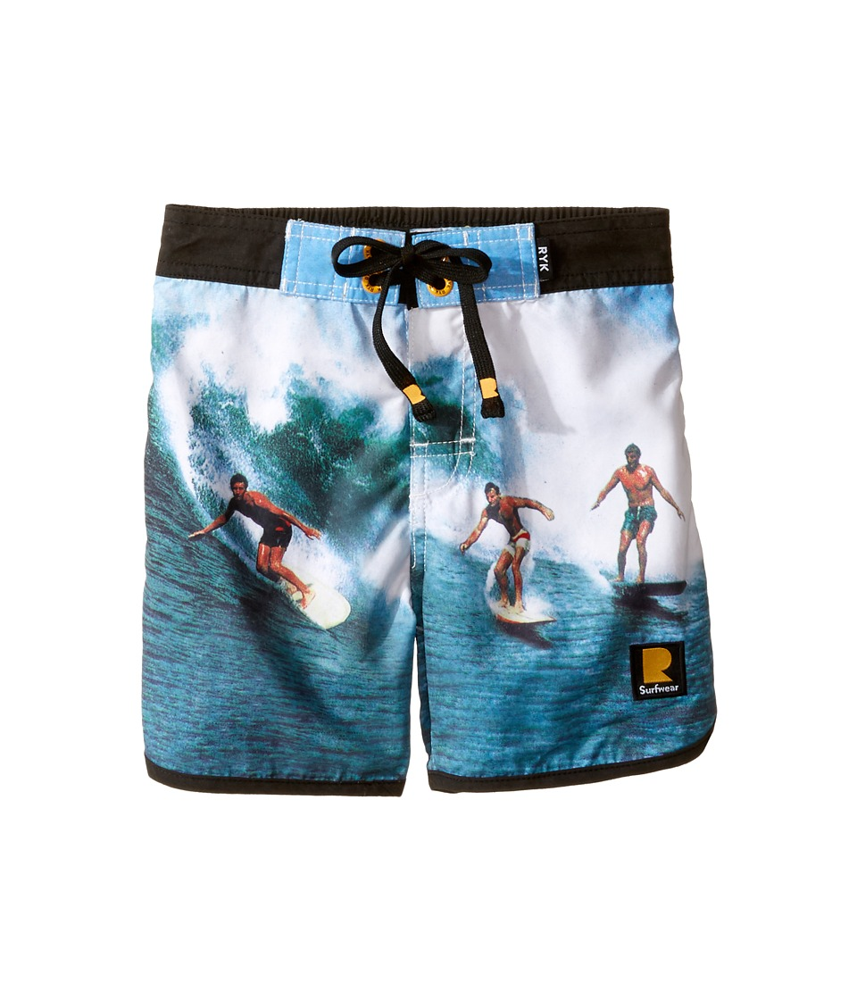 Rock Your Baby - Surfin Safari Boardshorts (Toddler/Little Kids/Big Kids) (Blue) Boy's Swimwear