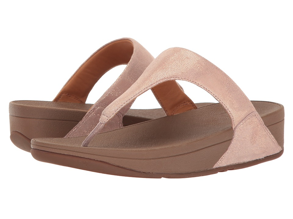 FitFlop Shimmy Suede Toe Post (Rose Gold) Women