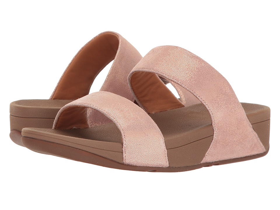 FitFlop Shimmy Suede Slide (Rose Gold) Women