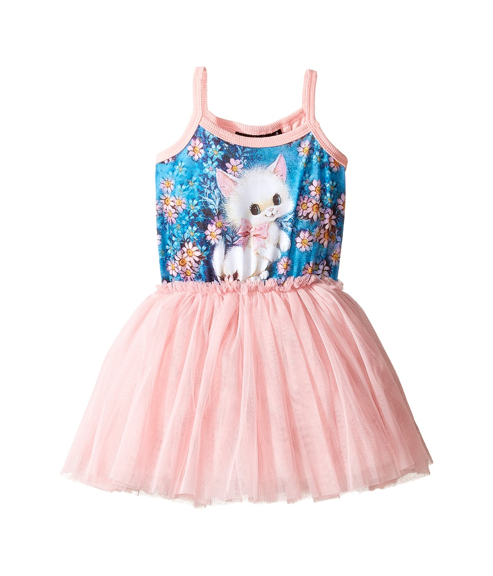 Rock Your Baby - Retro Kitten Singlet Circus Dress (Toddler/Little Kids/Big Kids) (Pink) Girl's Dress