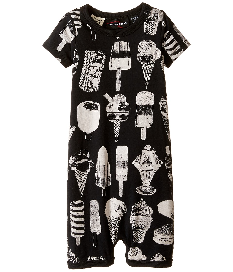 Rock Your Baby - The Cool Kids Playsuit (Infant) (Black) Boy's Jumpsuit & Rompers One Piece