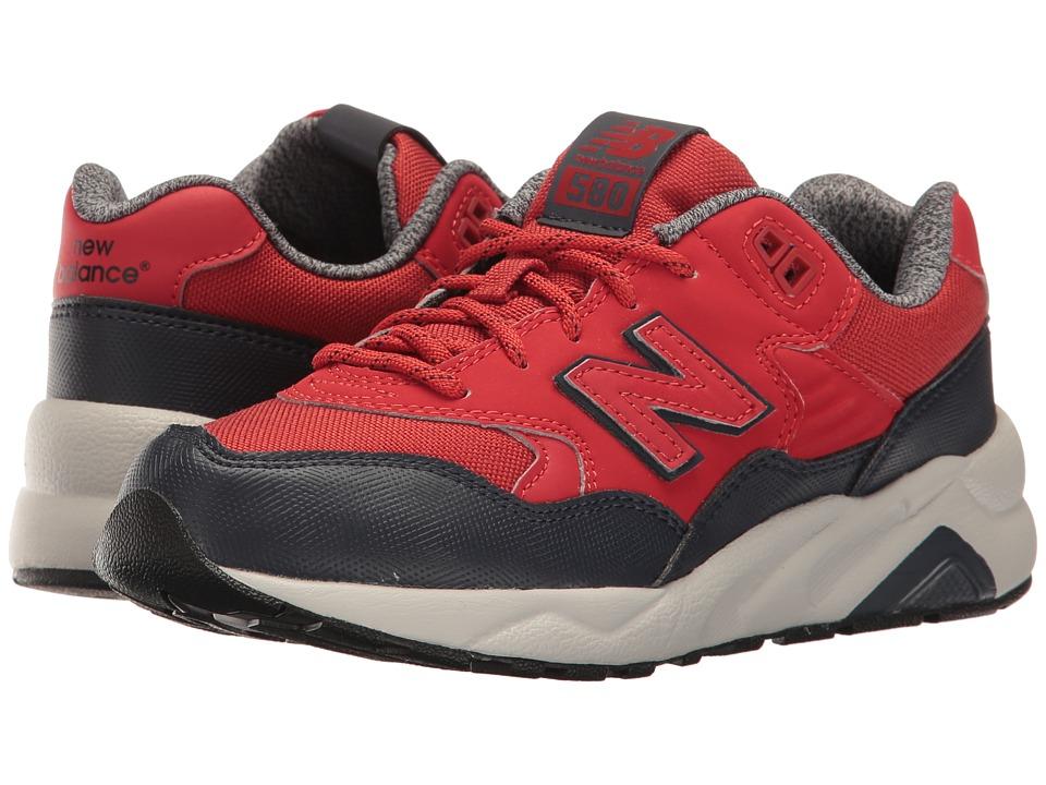 New Balance Kids - KL580 (Big Kid) (Red) Boys Shoes