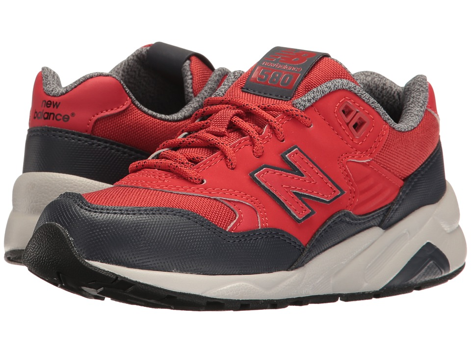 New Balance Kids 580 (Little Kid) (Red) Boys Shoes