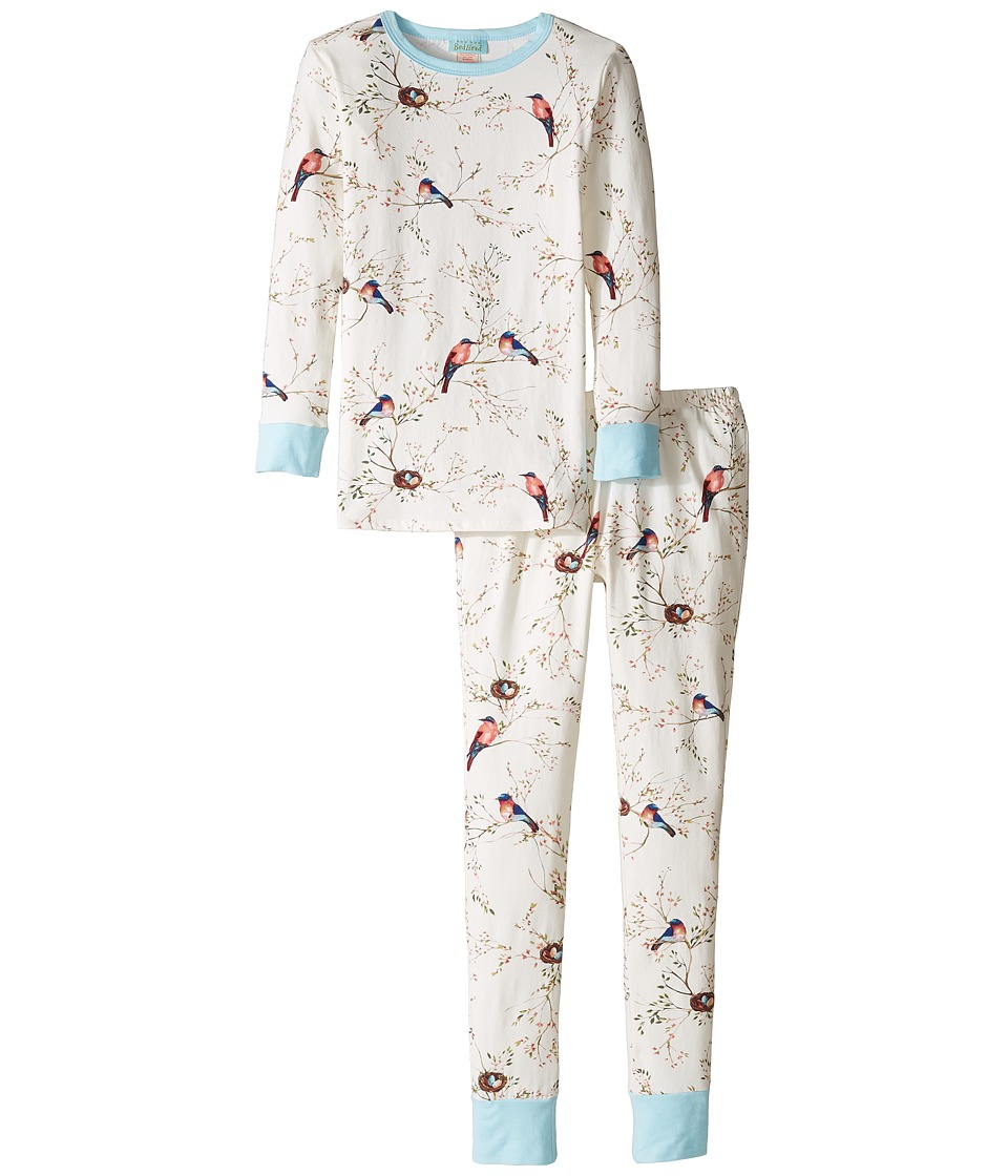 BedHead Kids - Long Sleeve Long Pants Set (Big Kids) (Bird's Nest) Girl's Pajama Sets