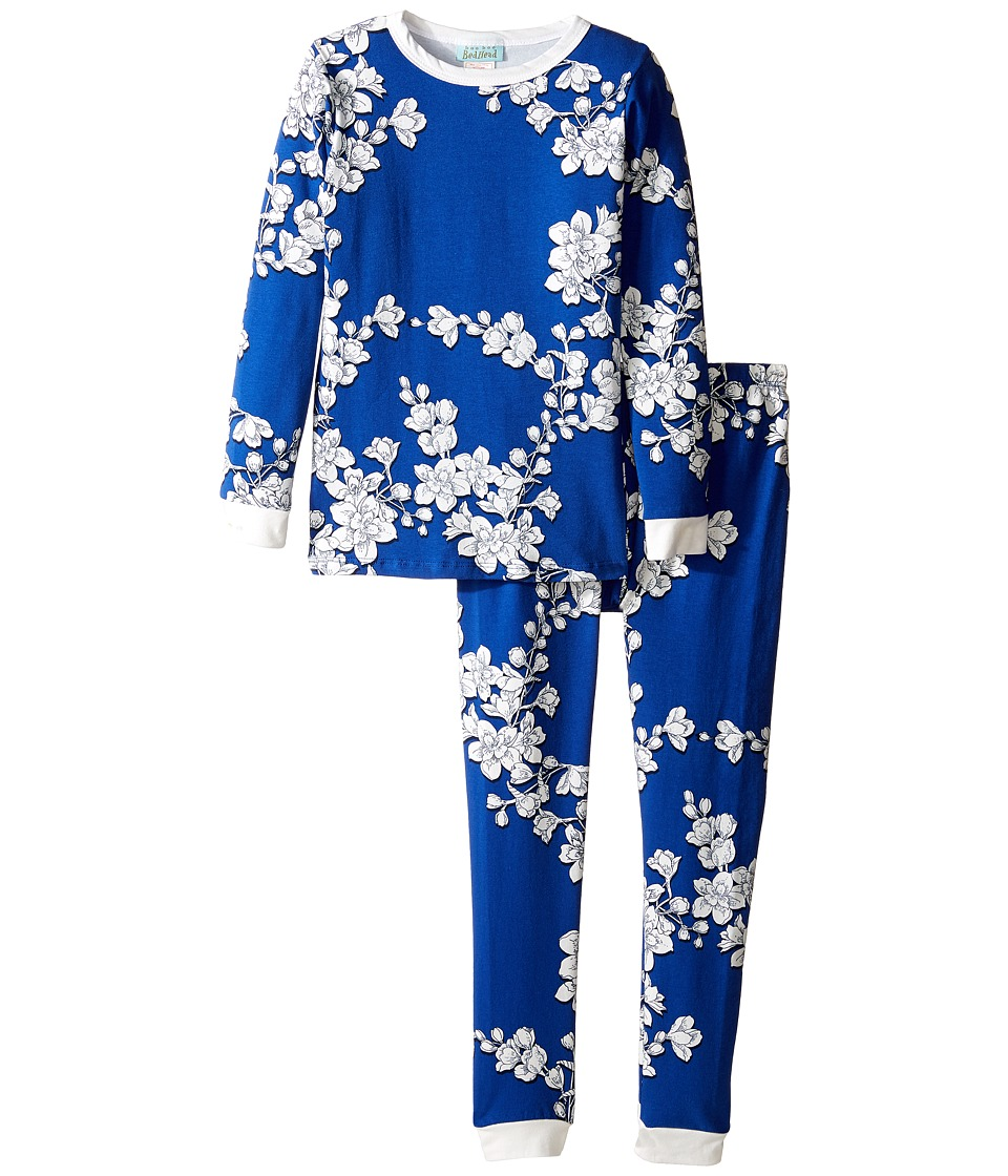 BedHead Kids - Long Sleeve Long Pants Set (Toddler/Little Kids) (Navy Shadow Blossom) Girl's Pajama Sets
