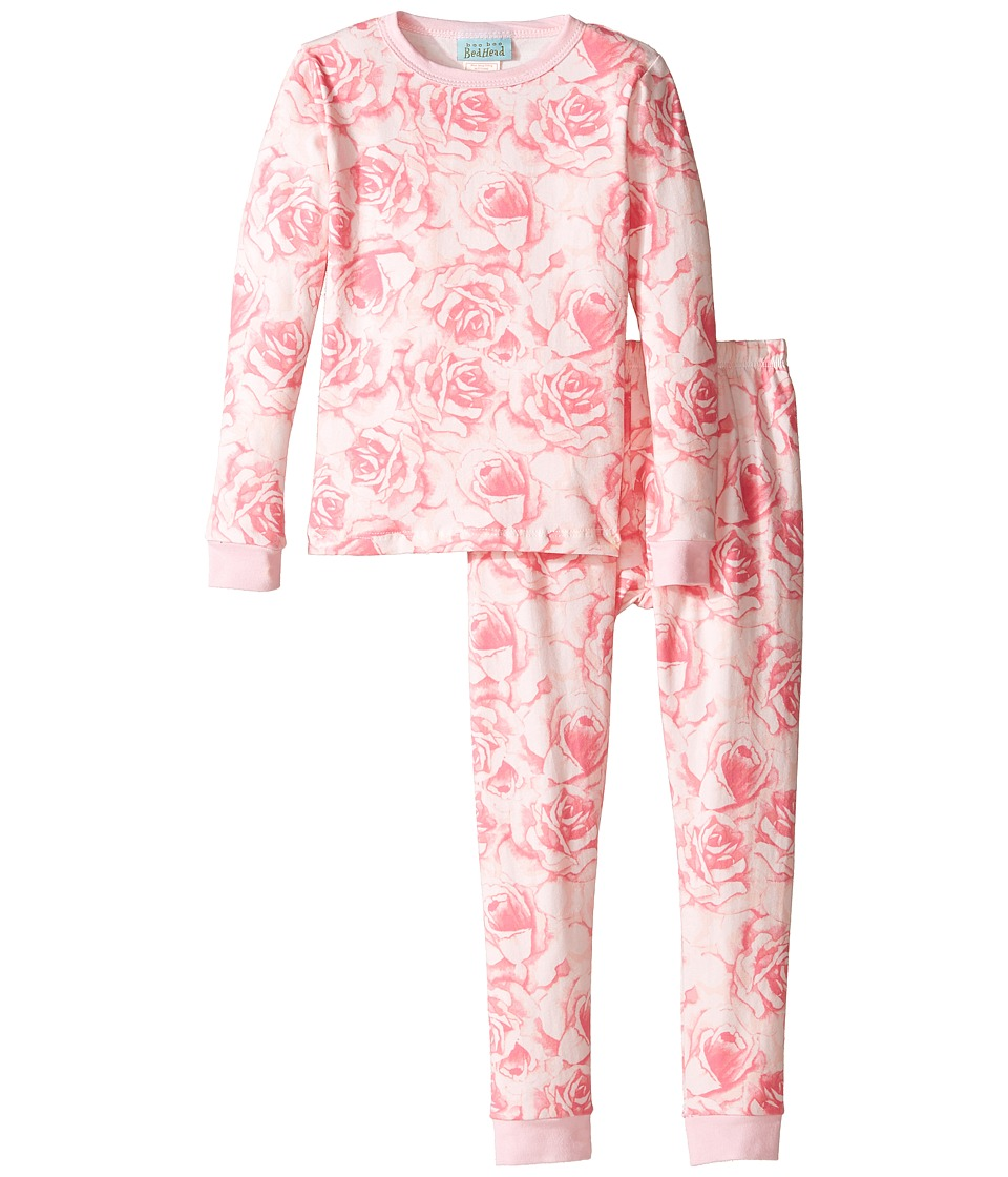 BedHead Kids - Long Sleeve Long Pants Set (Toddler/Little Kids) (Bed of Roses) Girl's Pajama Sets