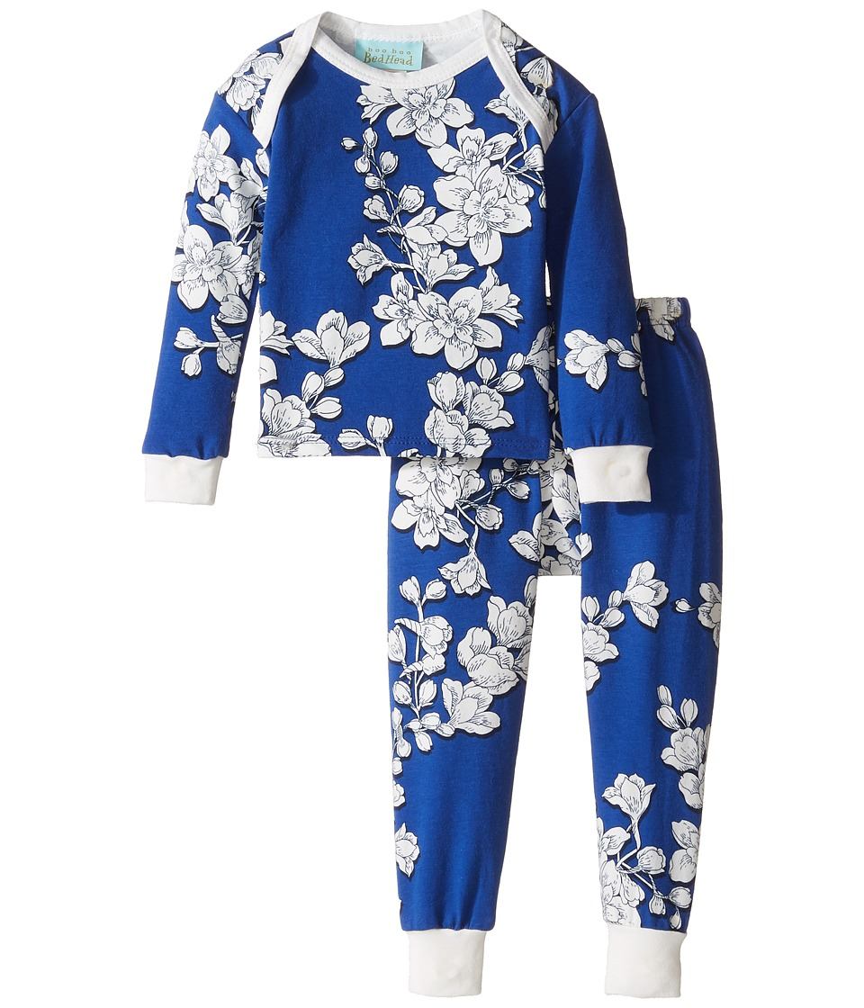 BedHead Kids - Long Sleeve Long Pants Set (Infant) (Navy Shadow Blossom) Girl's Pajama Sets
