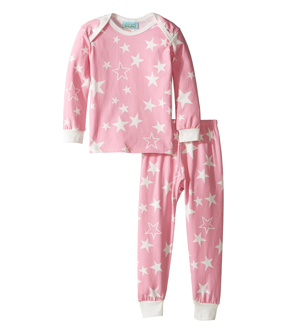 BedHead Kids - Long Sleeve Long Pants Set (Infant) (Pink My Superstar) Girl's Active Sets