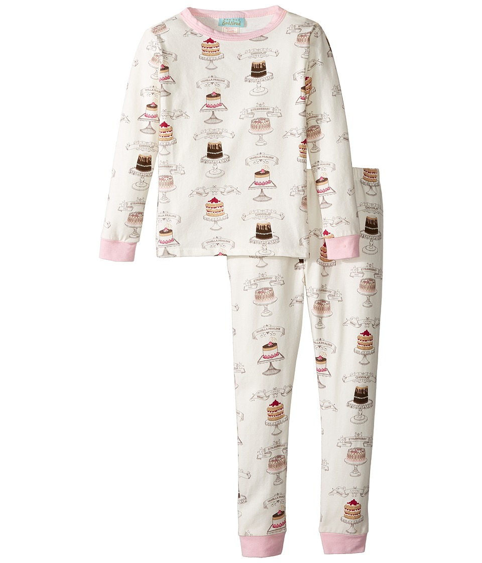 BedHead Kids - Long Sleeve Long Pants Set (Toddler/Little Kids) (Let Them Eat Cake) Girl's Pajama Sets