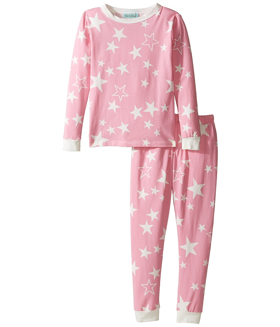 BedHead Kids - Long Sleeve Long Pants Set (Toddler/Little Kids) (Pink My Superstar) Girl's Pajama Sets