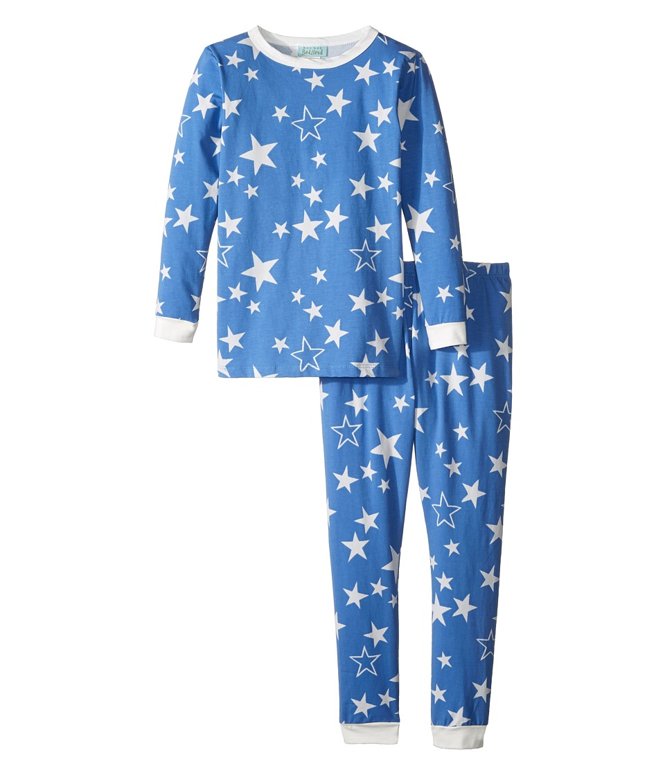 BedHead Kids - Long Sleeve Long Pants Set (Toddler/Little Kids) (Blue My Superstar) Boy's Pajama Sets