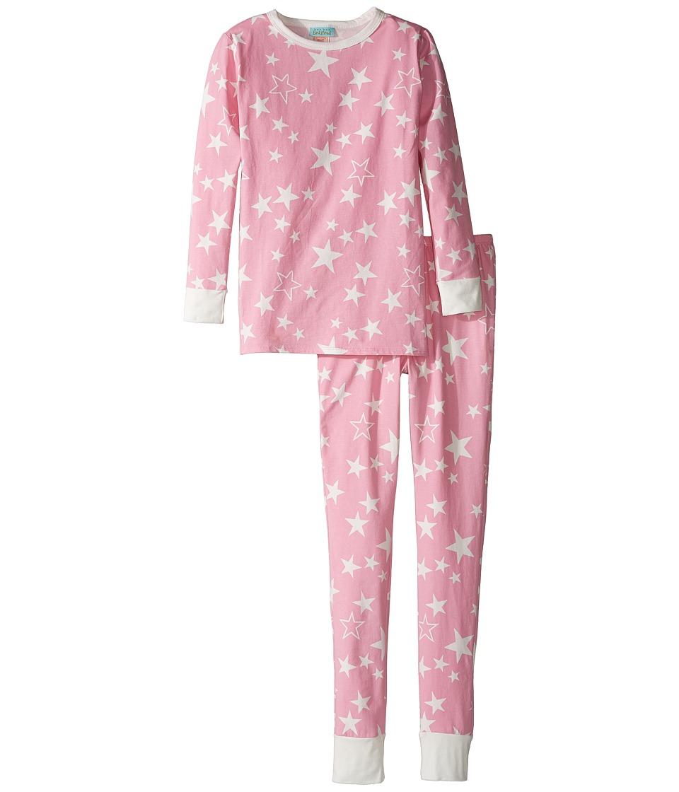 Image of BedHead Kids - Long Sleeve Long Pants Set (Big Kids) (Pink My Superstar) Girl's Active Sets