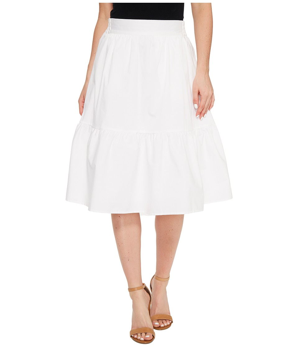 Splendid - Poplin Knee Length Skirt (White) Women's Skirt
