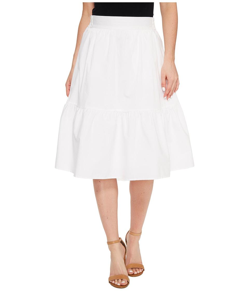 Splendid - Poplin Knee Length Skirt (White) Women's Skirt