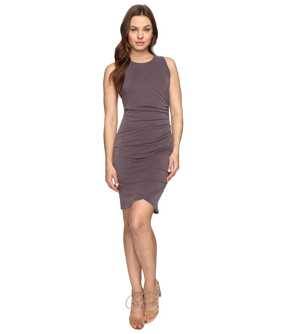 Culture Phit Cheyenne Sleeveless Dress with Ruched Side (Dusty Plum) Women