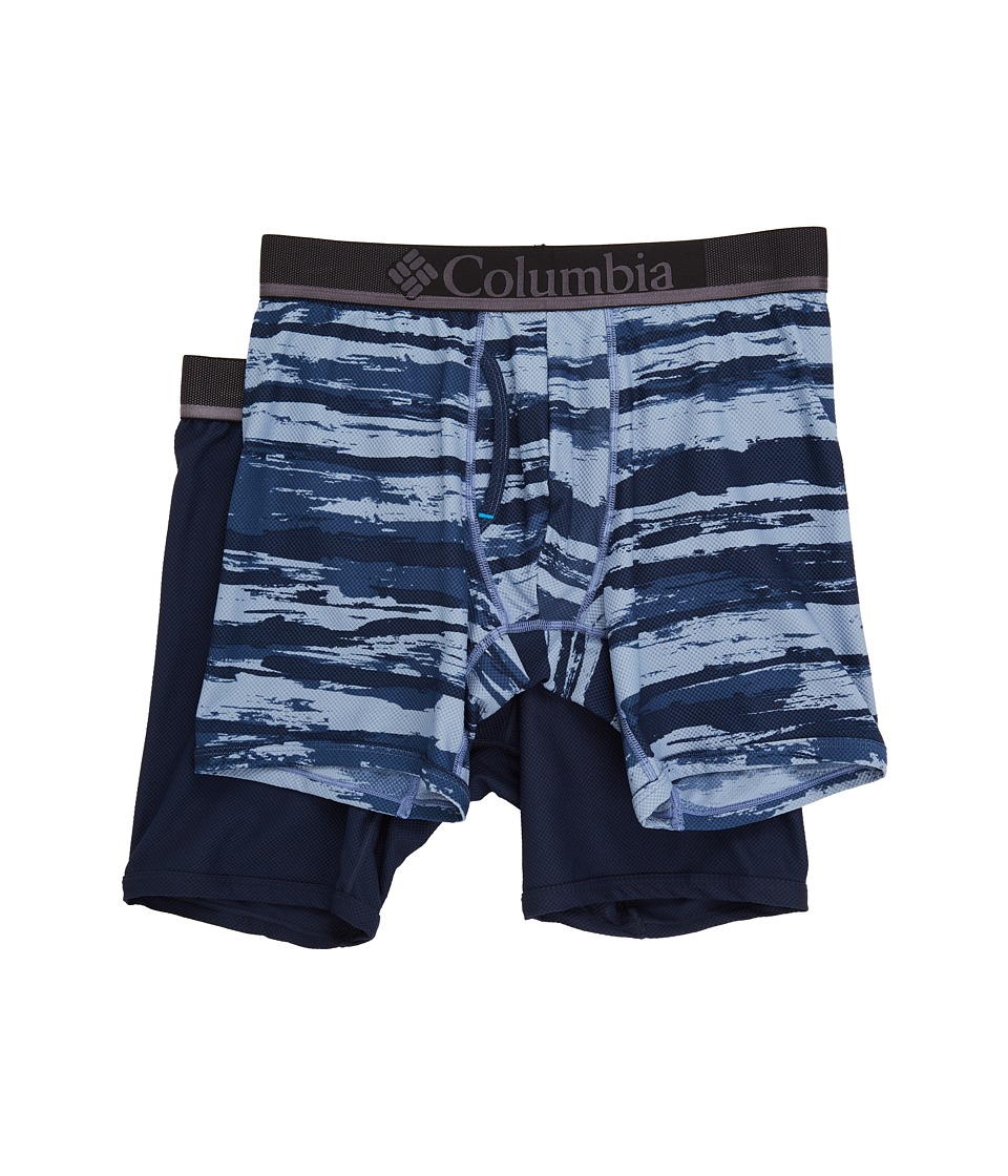 Columbia - Diamond Mesh Brush Stroke Boxer Brief 2-Pack (Brush Stroke 2/Dress Blue) Men's Underwear