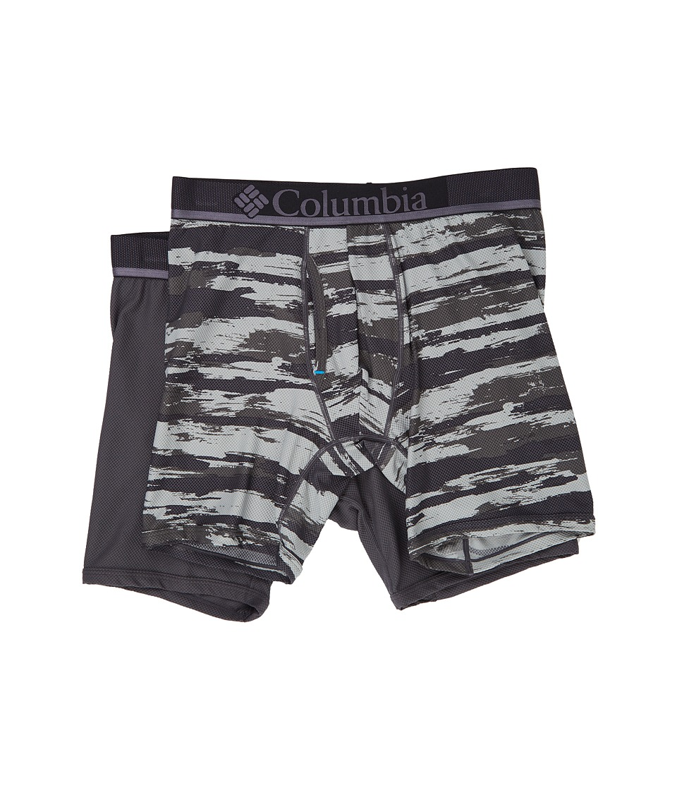 Columbia - Diamond Mesh Brush Stroke Boxer Brief 2-Pack (Brush Stroke 3/Forged Iron) Men's Underwear