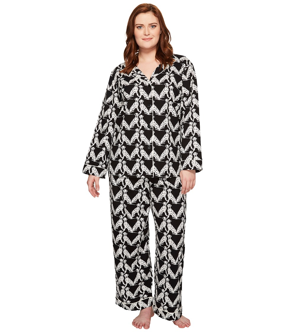 BedHead - Plus Size Long Sleeve Classic Pajama Set (101 Dalmatians) Women's Pajama Sets